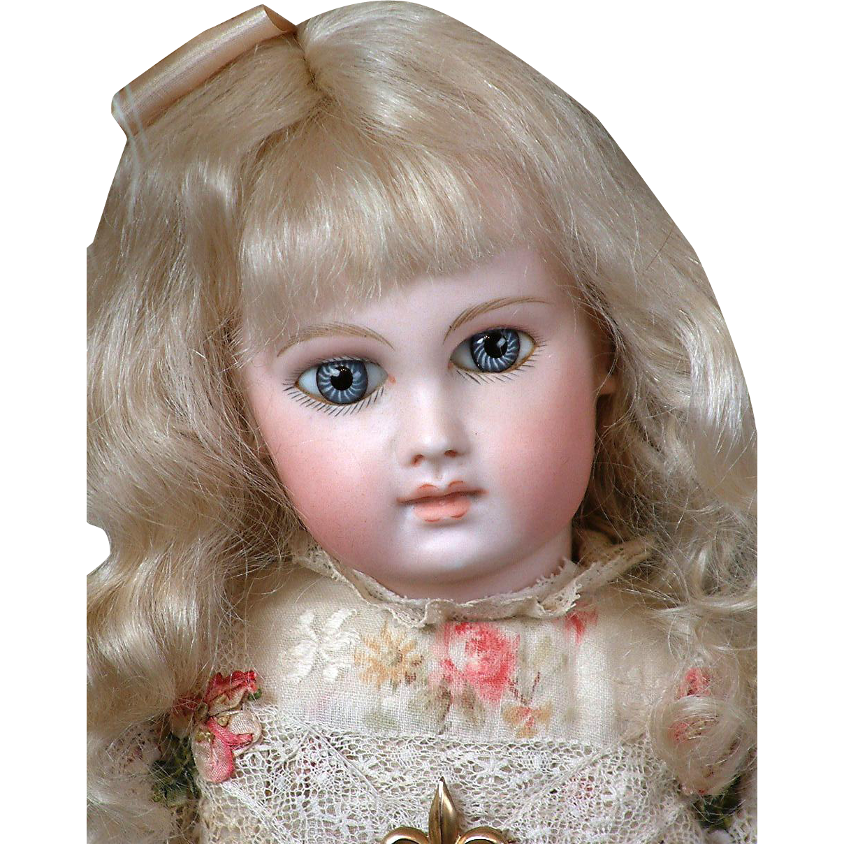 """16"""" First Series Almond-Eyed Portrait Jumeau Marked 0 Model C. 1877-1883"""