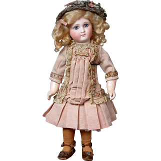 "12.5"" Diminutive, Darling EJ (E 4 J) Bebe By Emile Jumeau With Sombre Face Circa 1882"