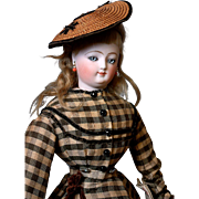 Outstanding All Original French Fashion Poupee Doll by Louis Doleac 22""