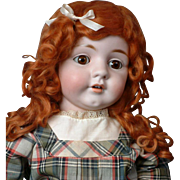 "Rare Huge 28"" Antique Kestner 143  Character Doll in Stunning antique Schoolgirl Dress!"
