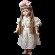 "32"" Huge  & Rare Adolf Wislizenus  Antique DollL  in Crispy Whites"