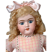 "Adorable Large Handwerck 109 Antique Bisque Doll 26"""