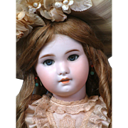 "Delightful 22"" SFBJ 230  Jumeau With Big Blue Eyes, Pale Complexion~ Superb!"