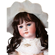 "*The Sweetest* 31"" Simon & Halbig 1079 DEP Antique Doll on Original Stamped Handwerck Body"