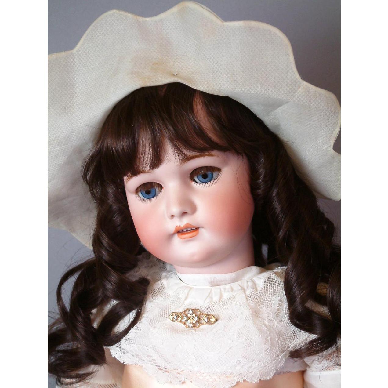 "*The Sweetest* 31"" Simon & Halbig 1079 DEP Antique Doll on Original Stamped Handwerck Body"