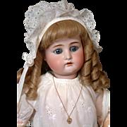 "Kammer & Reinhardt / Simon & Halbig 28"" Antique Bisque Doll w/Human Hair Wig"