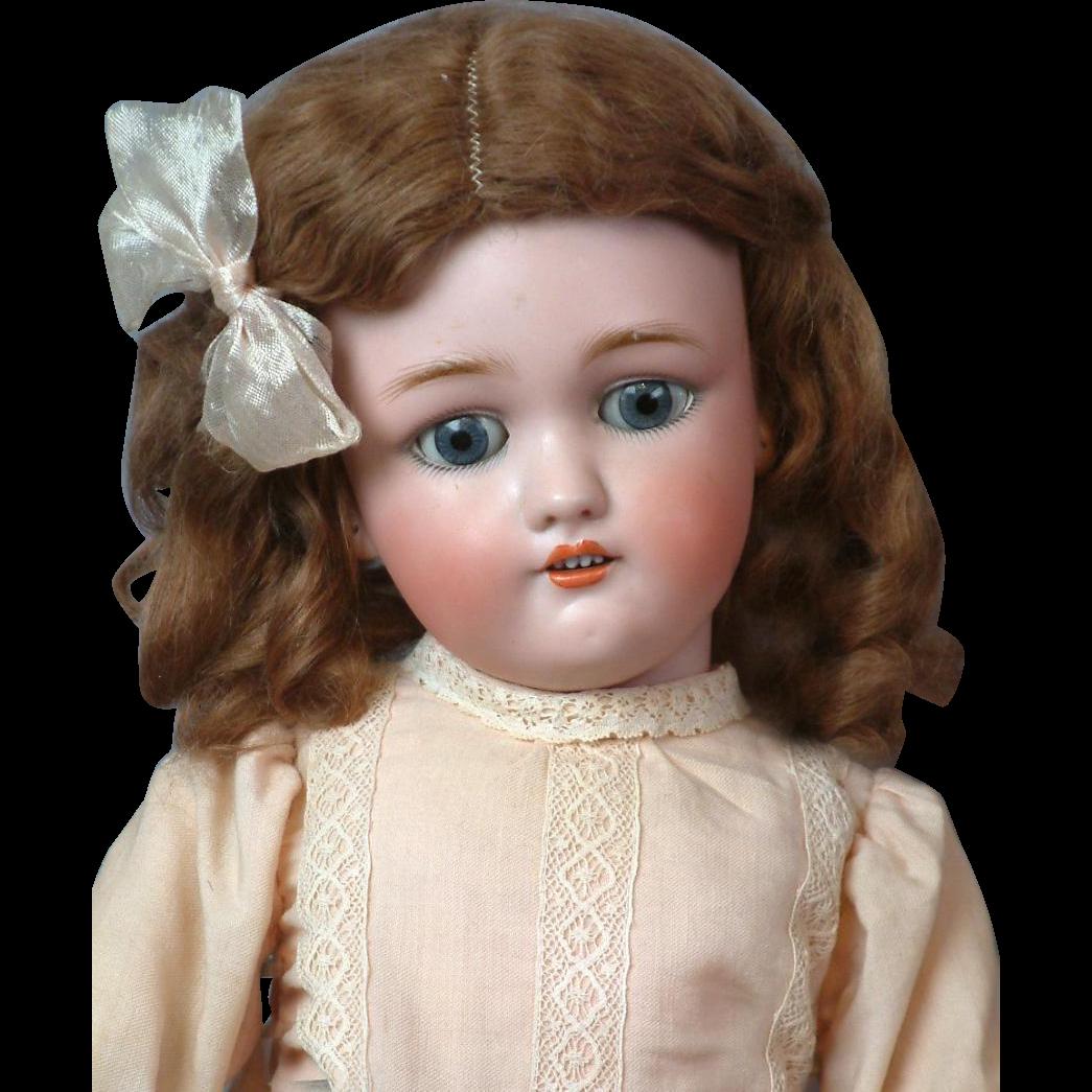 "All-Original Antique ""Jutta"" 1349 by Simon & Halbig 21"" with Original Wig & Costume"