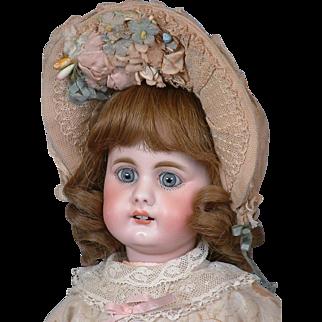 "18"" Darling Antique Simon & Halbig 949 Doll with Square-cut Teeth~in Original Dress!"