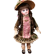 """Petite 15"""" French Block-Letter Rabery & Delphieu Bebe in Stunning Antique Costume--So Sweet"""
