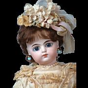 "14"" Eden Bebe by Gesland Antique French Doll in Sweet Bebe Frock"