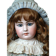 """26""""  Simon & Halbig 939 Antique Doll w/ Closed Mouth, Blue  Paperweight Eyes for the French Trade!"""