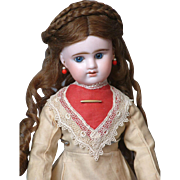 "19"" Etienne Denamur French Lady Doll Circa 1889 on French Lady Body and Original Victorian Fashion Gown"