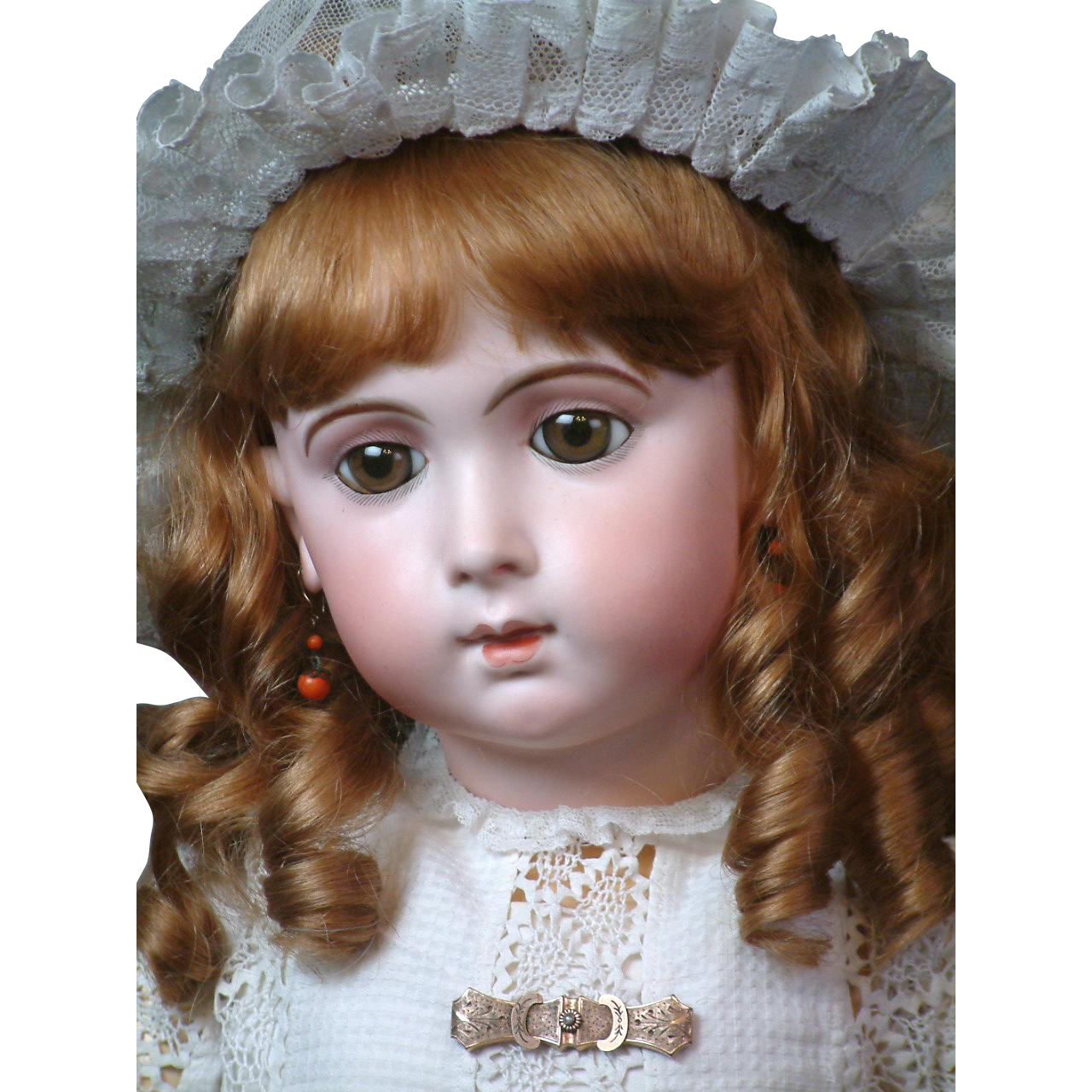 """32"""" Elusive """"Bebe Jumeau"""" Triste by Carrierre-Belleuse in All Antique Costume!"""
