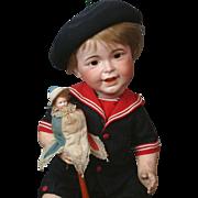 """10.5"""" Antique Marotte Doll in ~Original Costume~!"""