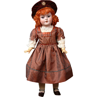 """Simon & Halbig 1279  Character Antique Bisque Doll 20"""""""