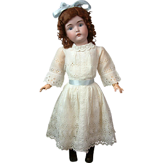 """Quintessential 30"""" Kestner 171 Antique Bisque Doll on Marked Body"""