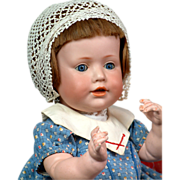 "Hilda's Little Sister 17"" Kestner Character Baby 247 Antique Doll"