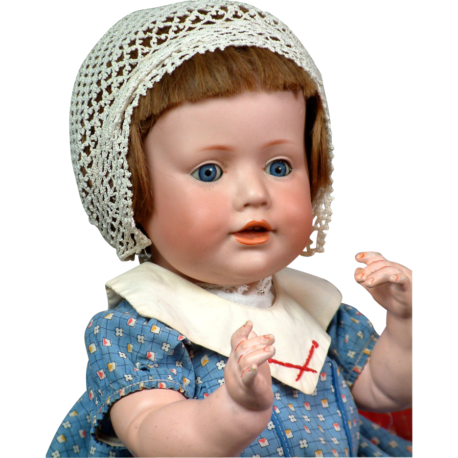 "Hilda's Little Sister 17"" Kestner Character Baby 247 Antique Doll"