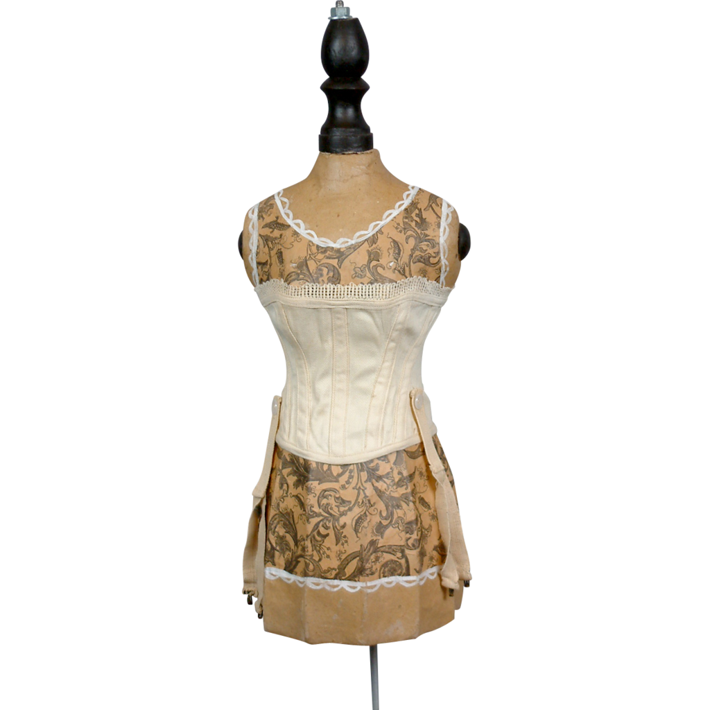 Gorgeous Contoured Overbust Corset For French Bebe Bru Jumeau FG Fashion Doll- Defined Waist!
