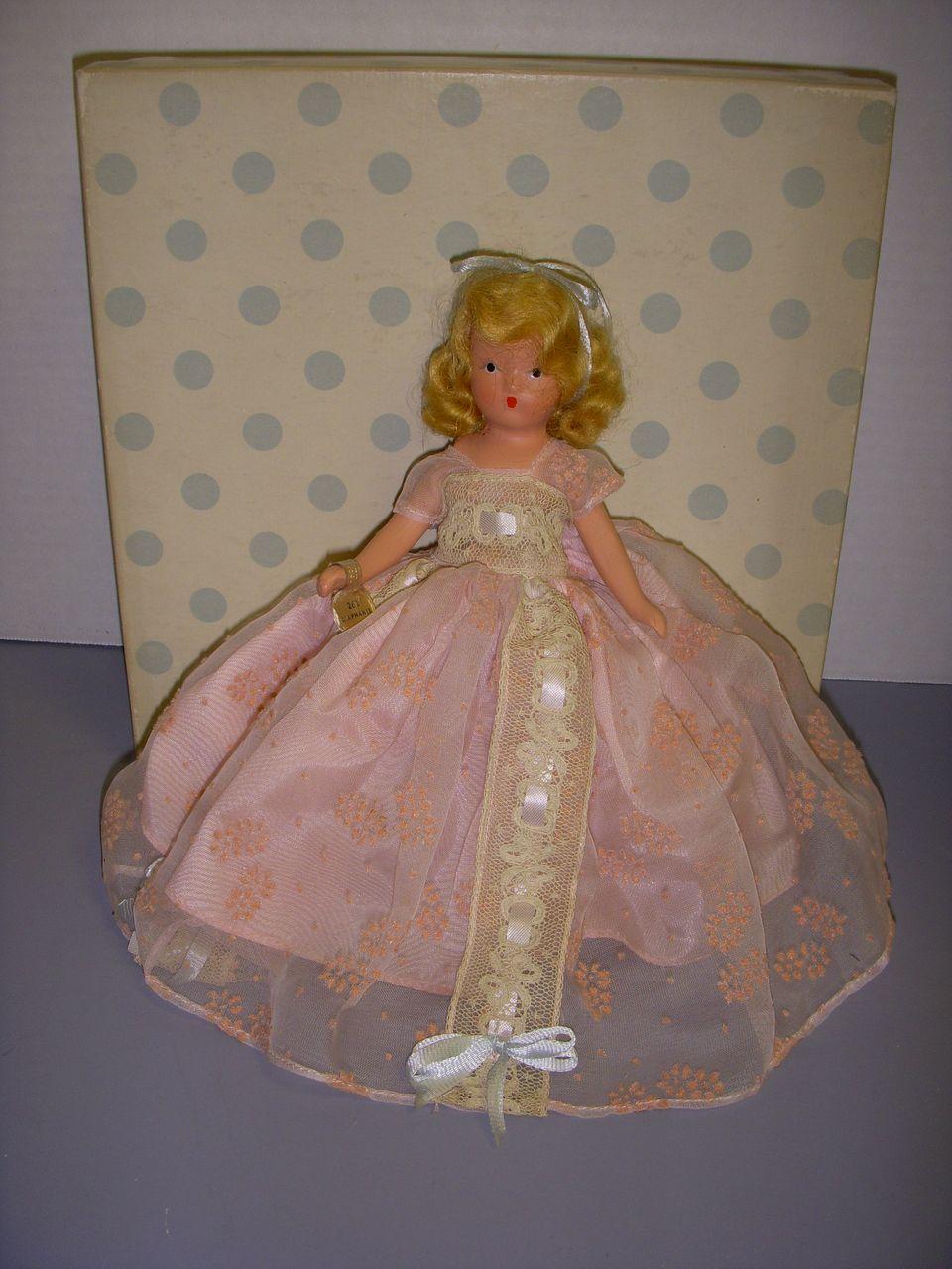 """Nancy Ann Storybook Doll Bisque """"In Powder and Crinoline"""" MIB!"""