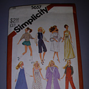 "Simplicity 11 1/2"" Doll Pattern -Barbie & High Heeled Fashion Dolls!"
