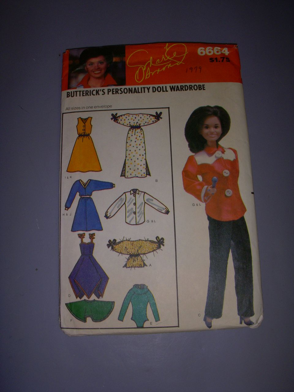 Vintage Butterick Doll Pattern for Marie Osmond & Barbie Dolls!