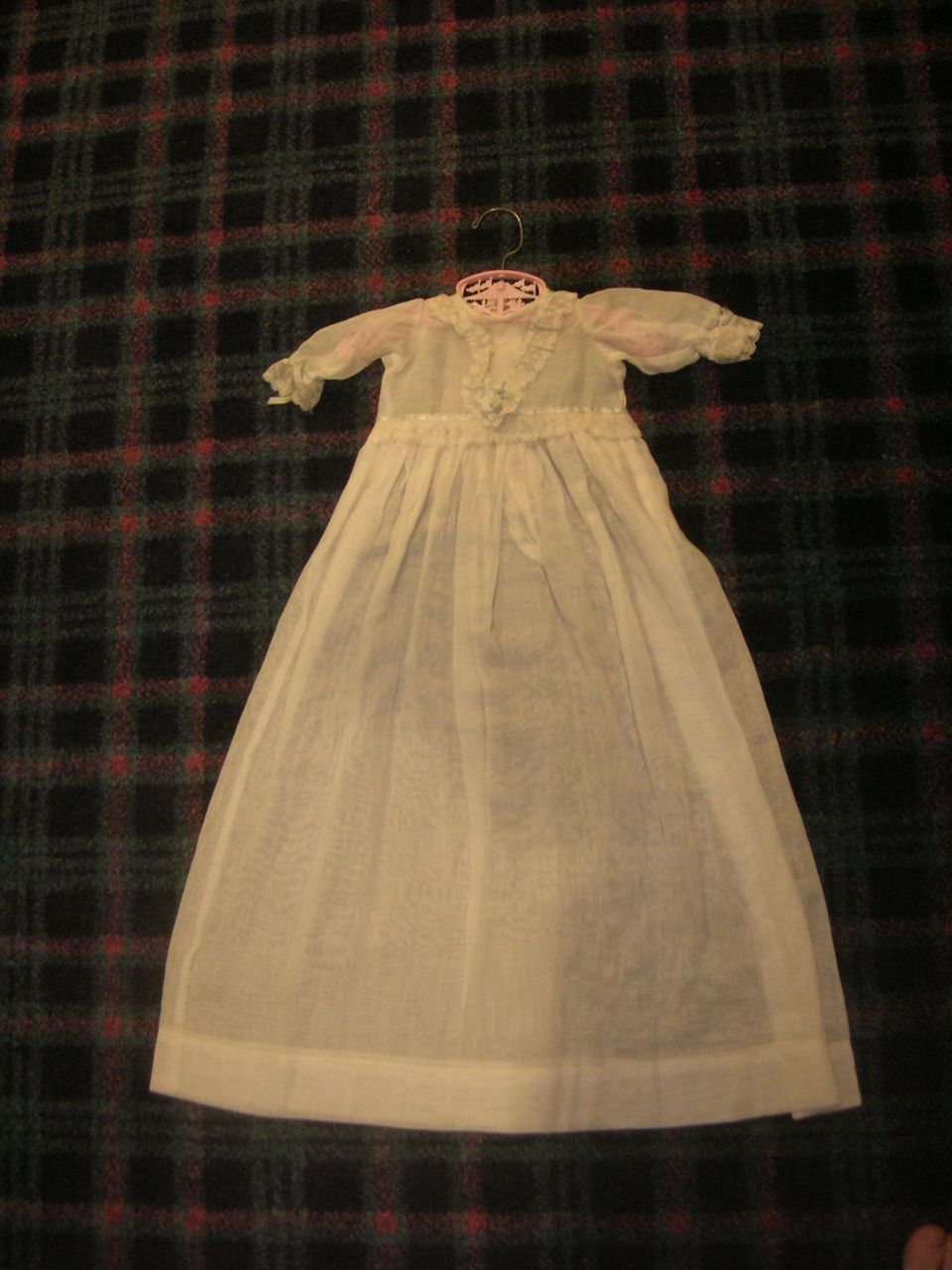 Vintage Long Doll Christening Gown!