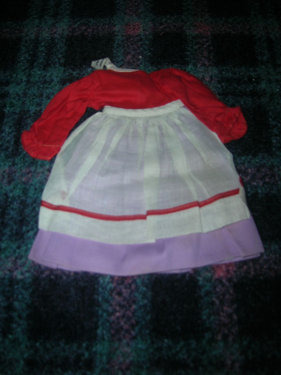 Early Vintage Tagged Alexander Doll Outfit