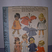 "McCall's Vintage Pattern for Betsy Wetsy, Baby Giggles, Baby First Step 17""-18 1/2"" Dolls."
