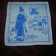Vintage St Nicholas Christmas Child's Hanky