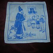 Vintage St Nicholas Christmas Child's Hanky