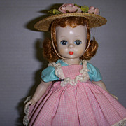 Vintage 1950s Madame Alexander-kin Doll in Original Outfit with Box!