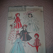 "Butterick's Vintage High Heel Fashion Doll Pattern for 10 1/2"" Dolls."