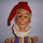 "Vintage Kersa Hand Puppet ""Jester"" Made in Germany!"