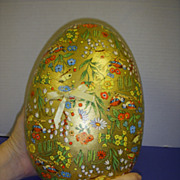 Rare Large Vintage German Easter Egg Candy Container!