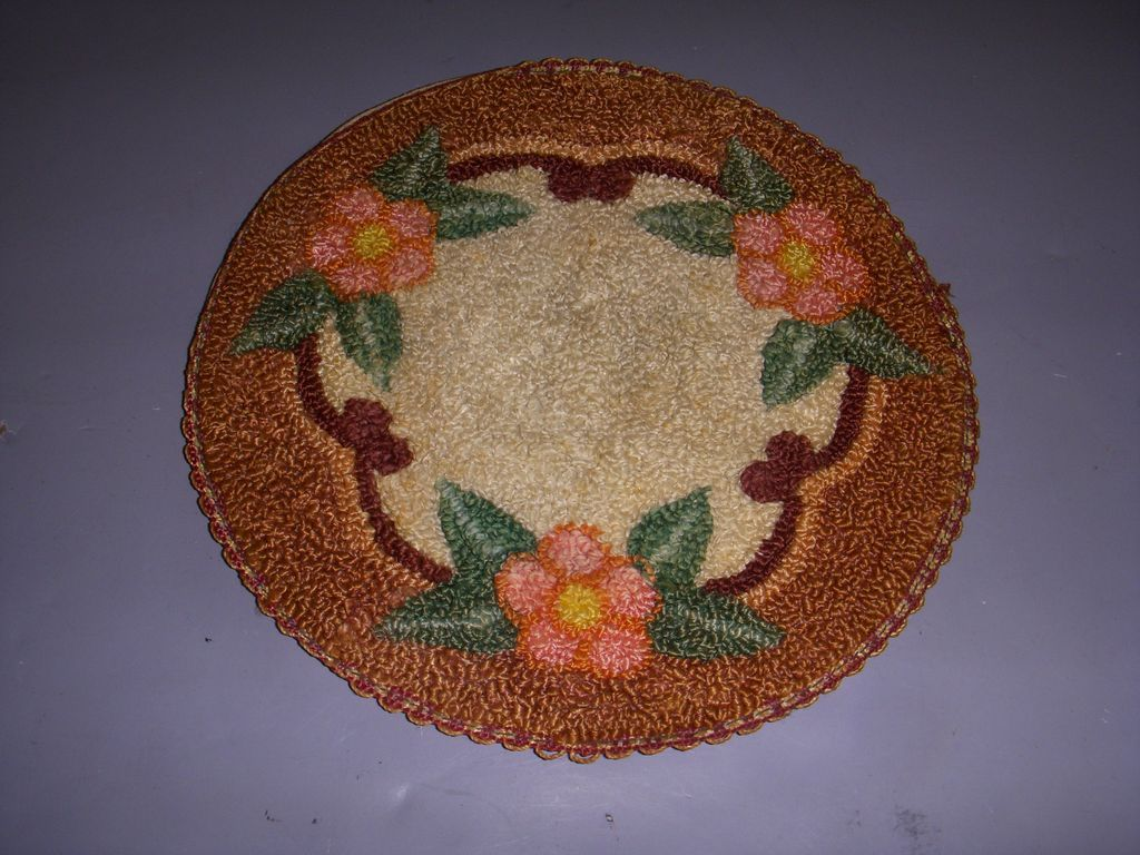 Vintage Needlework Dollhouse Rug!