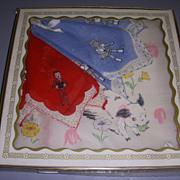 Vintage Boxed Child's Hankies Set of 3 MIB!