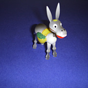 "Vintage Wooden Toy Nodder Donkey Figure by ""Goula"" Made in Spain!"