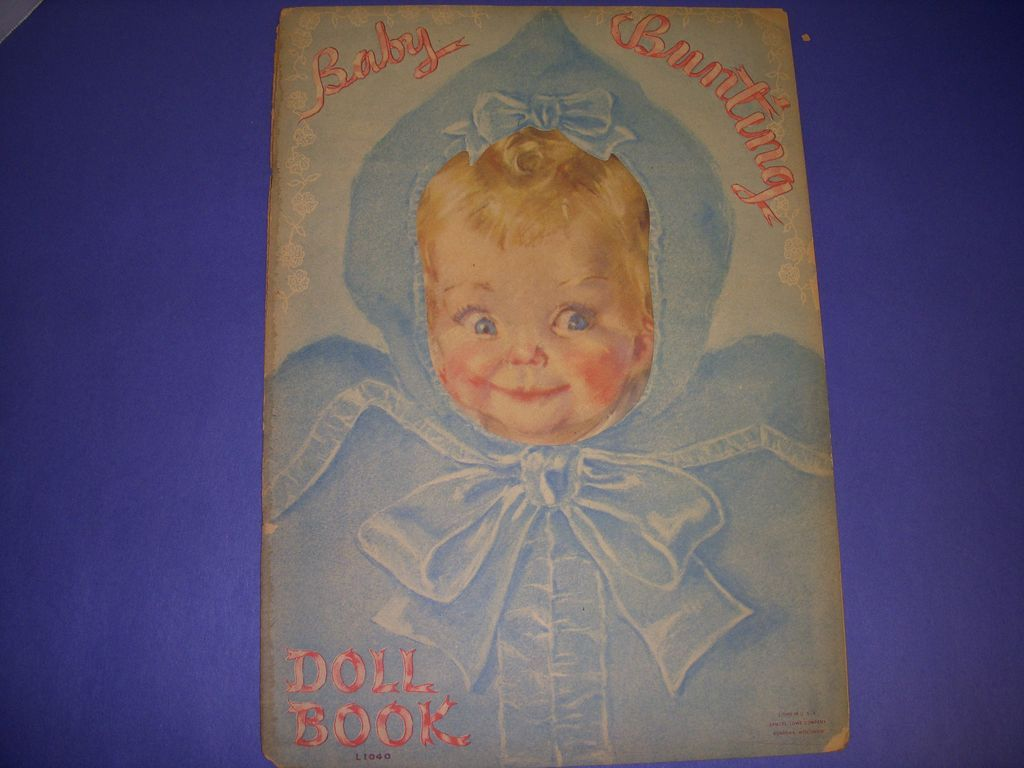"1930s Uncut Lowe Paper Doll Book "" Baby Bunting Doll Book""!"
