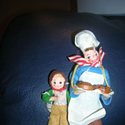 Vintage German BAPS Simple Simon and the Pie Man Dolls