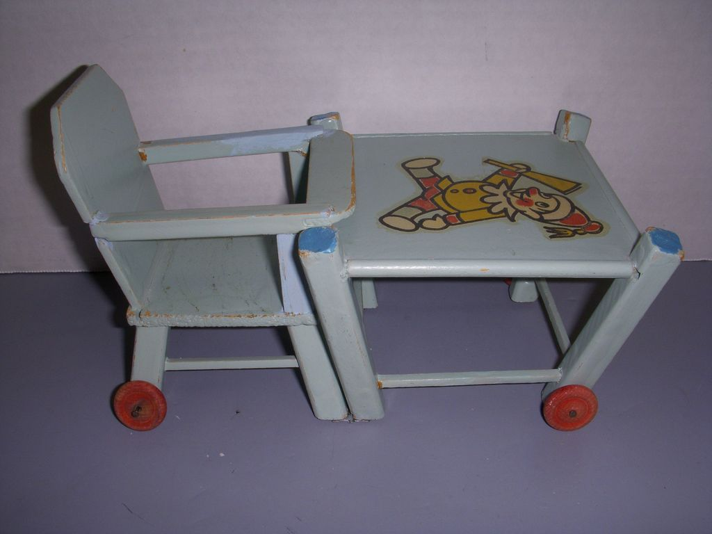 Vintage wooden high chair - Roll Over Large Image To Magnify Click Large Image To Zoom