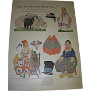 "1923 Vintage Paper Doll Sheet ""Little Bo-Peep and the Dutch Uncle"" Uncut!"