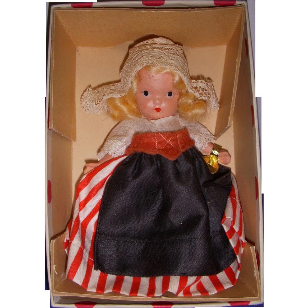 "Nancy Ann Storybook Doll Early Bisque ""Dutch"" MIB!"