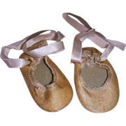 Vintage Satin Ballet Slippers/Shoes!