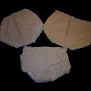 Vintage Original Tiny Tears Panties!  Lot 0f 3!