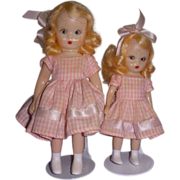 1950s Nancy Ann Storybook Doll Big & Little Sister Set!
