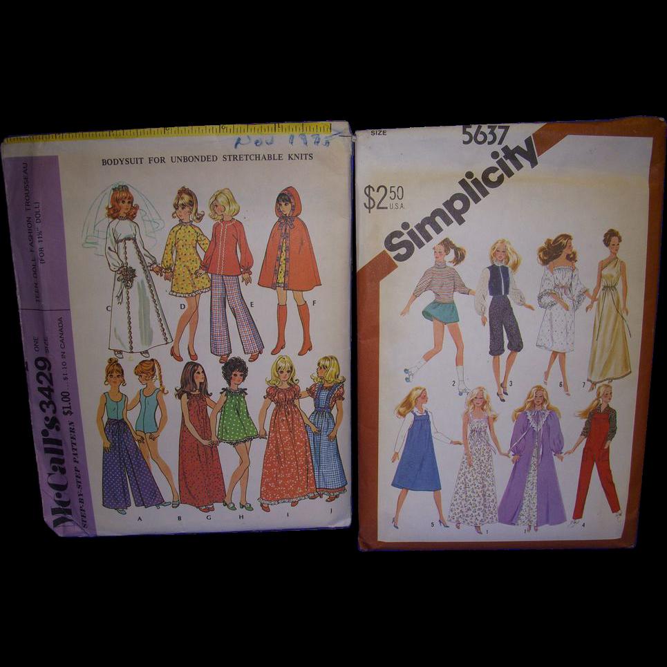 2 Vintage Doll Patterns for Barbie & Other Fashion Dolls!
