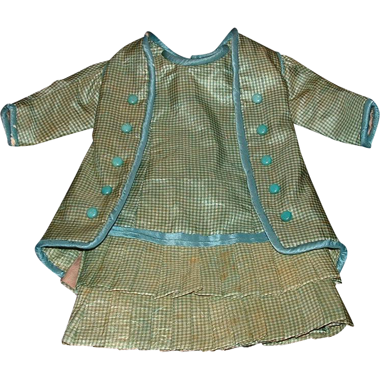 Beautiful Vintage Dress Set for a French Bebe or French Bisque Doll