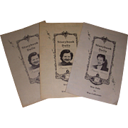 3 Vintage Nancy Ann Storybook Doll Booklets!