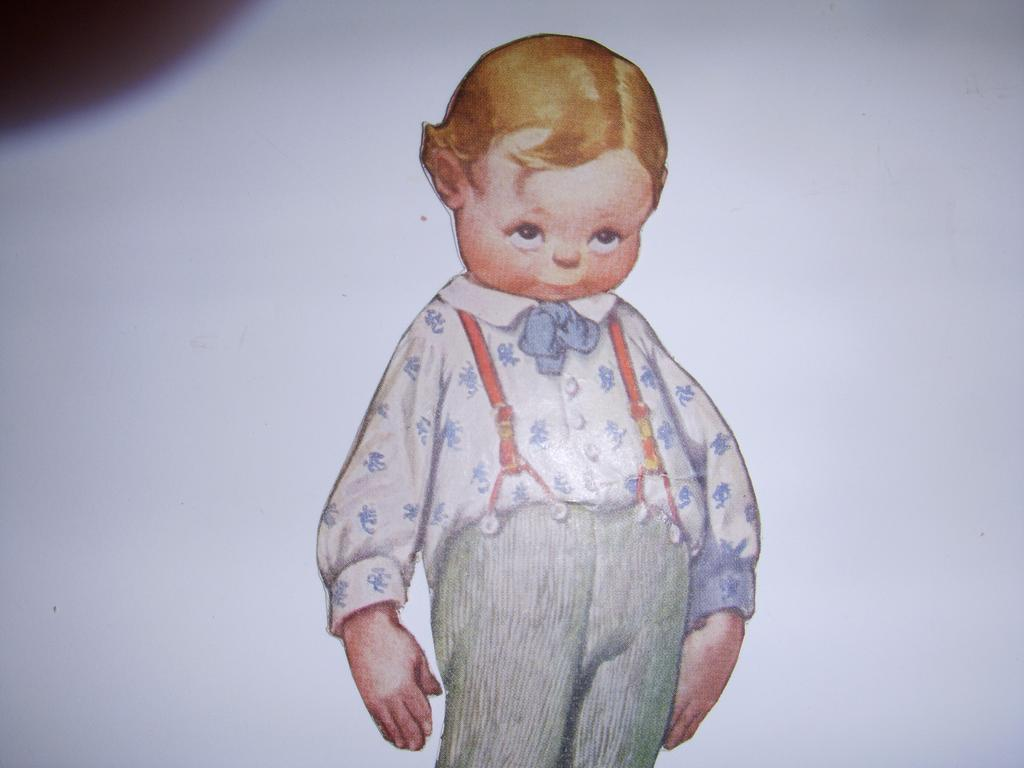 "Vintage ""Brother Dan"" 2-sided Paper Doll!"